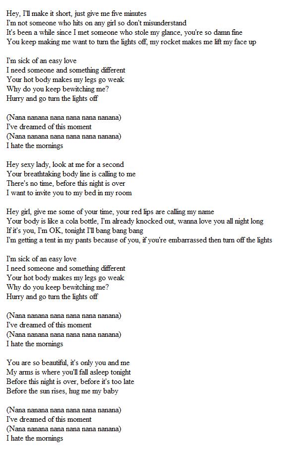 U-Kiss – Turn Off The Light (불꺼) – popgasa kpop lyrics